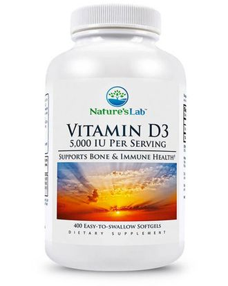 (Nature's Lab) Vitamin D3 5000 IU - (400 капс)