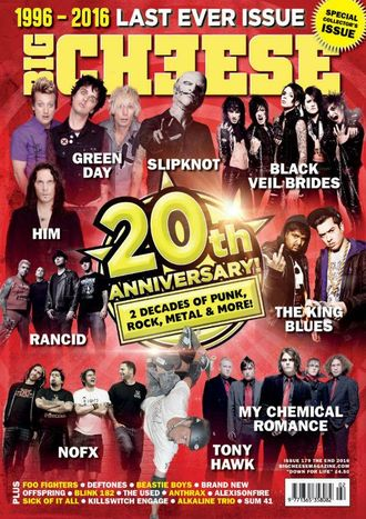 BIG CHEESE Magazine № 179 Him, Green Day, My Chemical Romance, Slipknot, Black Veil Brides Cover ИНО