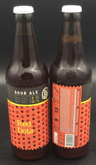 фото Пива Red Dots sour Ale 5/0% IBU 55 0,5л (180) Brewlok Brewery