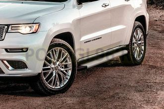 Пороги на Jeep Grand Cherokee (2010-2013-…) Optima Silver