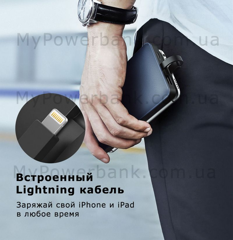 Powerbank Ugreen 10000mAh MFi для iPhone - цена