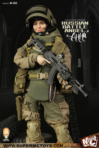 Анна (Российский спецназ) 1/6 scale Russian battle angel Anna M-082 SUPER MC TOYS X Face Pool Figure