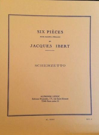 Ibert, Jacques. Scherzetto pour harpe 6 pieces №2