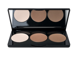 Контурная палитра 3в1 COUNTOR pallete trio powder highlight-bronze-countur Paese