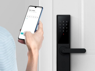 Замок Xiaomi Mijia Smart Door Lock Youth Version Black вправо