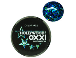 Глитерный гель OXXI Professional Hollywood №2, 5гр