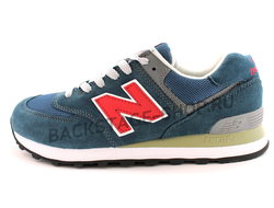 Кроссовки New Balance 574 Blue\Red сетка
