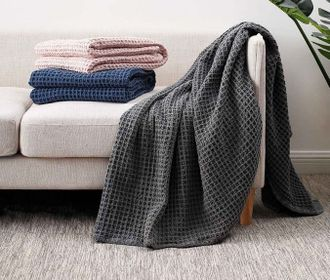 Плед Xiaomi COMO LIVING Waffle Cotton Multifunctional Blanket 150*200см серый