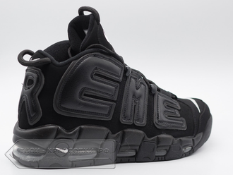 Кроссовки Nike Air More Uptempo Supreme All Black мужские арт. N390