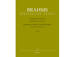 Brahms Sonatas op.120 for Clarinet and Piano