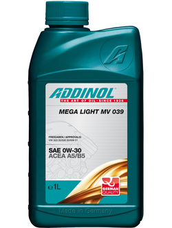 Моторное масло Addinol Mega Light MV 039 0W-30, 1л