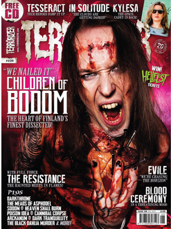 TERRORIZER Magazine June 2013 Children Of Bodom Cover Иностранные  журналы, Intpressshop