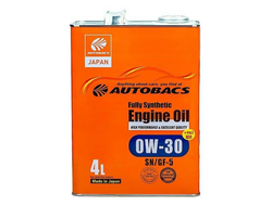 Масло моторное AUTOBACS ENGINE OIL FS 0W-30 4л A01508398