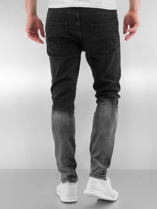 741eca49fc9 Черные рваные джинсы мужские и подростковые Slim Fit Jeans K125 ...