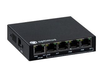 Optimus UM1-E5/4P mini Коммутатор PoE
