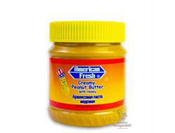 Арахисовая паста American Fresh Peanut Butter with Honey, с медом, 340 гр.