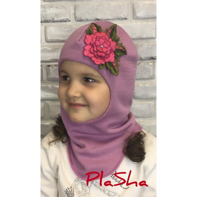 Арт.055 Шлем на хлопковой подкладке для девочек