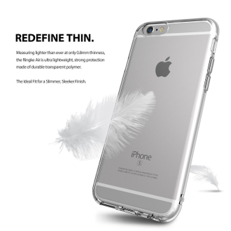 Чехол на Apple iPhone 6S+ и 6+, Ringke серия Air, цвет темный (Smoke Black)