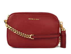 Клатч Michael Kors Ginny Medium Leather Crossbody красный