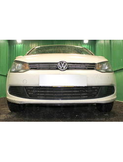 Защита радиатора Optimal Volkswagen Polo седан 2010-2014. Код: Z053