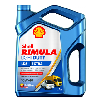 Масло Shell Rimula Light Duty LD5 Extra 10/40 4л.