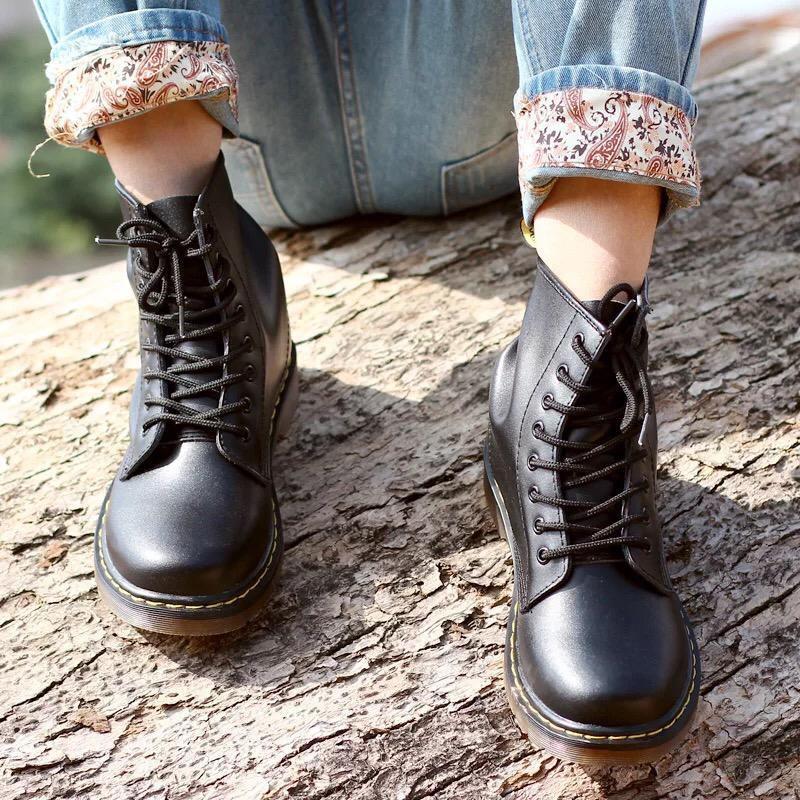 Черные ботинки Доктор Мартинс