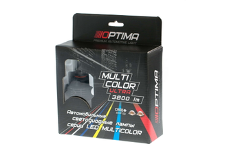 Светодиодные лампы Optima Multi Color Ultra H8 3800 LM (CREE-XHP50) 12-24V