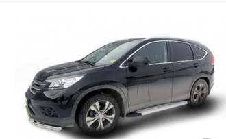 Пороги на Honda CR-V (2012-2017) Optima Silver