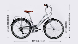 Велосипед Xiaomi Flying Pigeon Retro Leisure Bike (C-ONE) черный