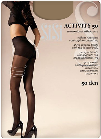 SiSi Activity 50 den 4=L (Nero)