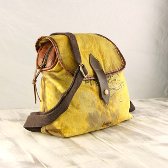 "Рюкзак Old Cotton Cargo ""Clair L bag"" жёлтый"