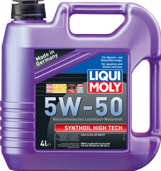 МАСЛО МОТОРНОЕ LIQUI MOLY SYNTHOIL HIGH TECH 5W50 4Л. СИН. КОД 9067