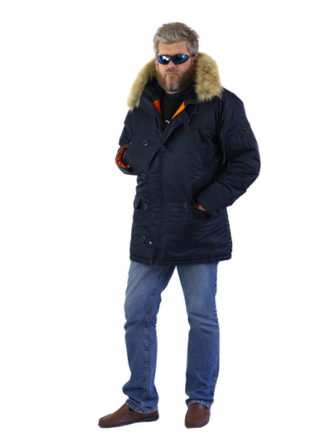 Куртка мужская N3B Nord Storm RepBlue/Orange