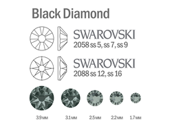 Мини-микс страз для маникюра Black Diamond - 30шт