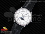 Villeret 6654 SS Complicated Function OMF 1:1 Best Edition White Dial