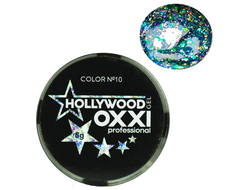 Глитерный гель OXXI Professional Hollywood №10, 5гр