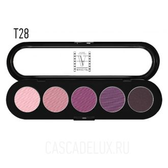 T28 Make-up Atelier Paris, Тени палитра 5 цветов