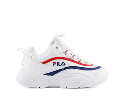 Кроссовки Fila Ray White-Red-Blue Tricolor (36-40)