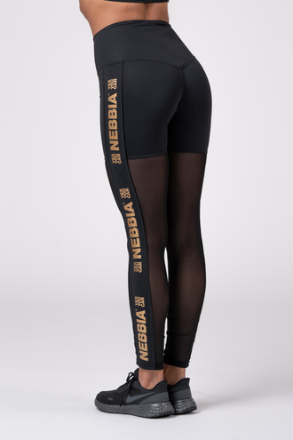 Леггинсы Gold Mesh leggings 829