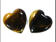 Сердце Тигровый глаз мал. /в ассортименте (25*25*6 мм, 7 г) №2296