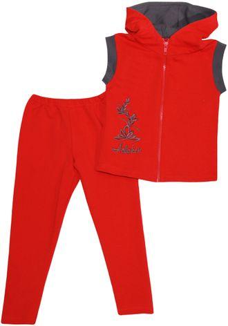 Костюм для девочки (Артикул 4121-362) цвет красный