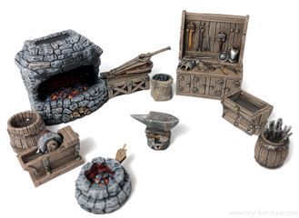 Medieval Forge   (PAINTED)