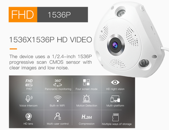 Панорамная WI-FI Smart IP-камера 3D-Panoramic 360° Vstarcam C61S (Photo-08)_gsmohrana.com.ua