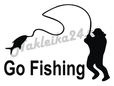 Наклейка Go fishing