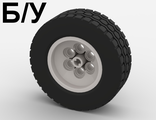 ! Б/У - Wheel 62.4 x 20, with Black Tire 62.4 x 20 (32020 / 32019), White (32020c01) - Б/У