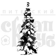 Штамп для скрапбукинга Снежная ель