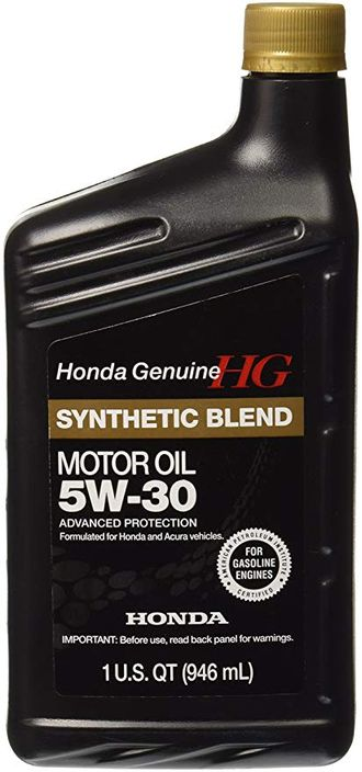 Масло моторное HONDA HG Synthetic Blend SN 5w-30 0,946л 08798-9034