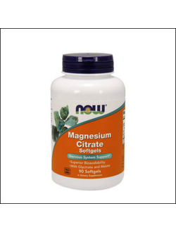 Добавка NOW magnesium Citrate 90 softgels