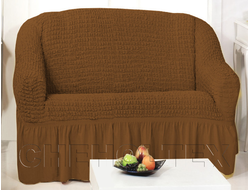 Чехол Стандарт на 2-х местный диван, цвет Кофе
