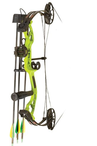 "Блочный лук в обвесе PSE PACKAGE MINI BURNER 2018 RH 29LBS 16-26"" LIME GREEN"